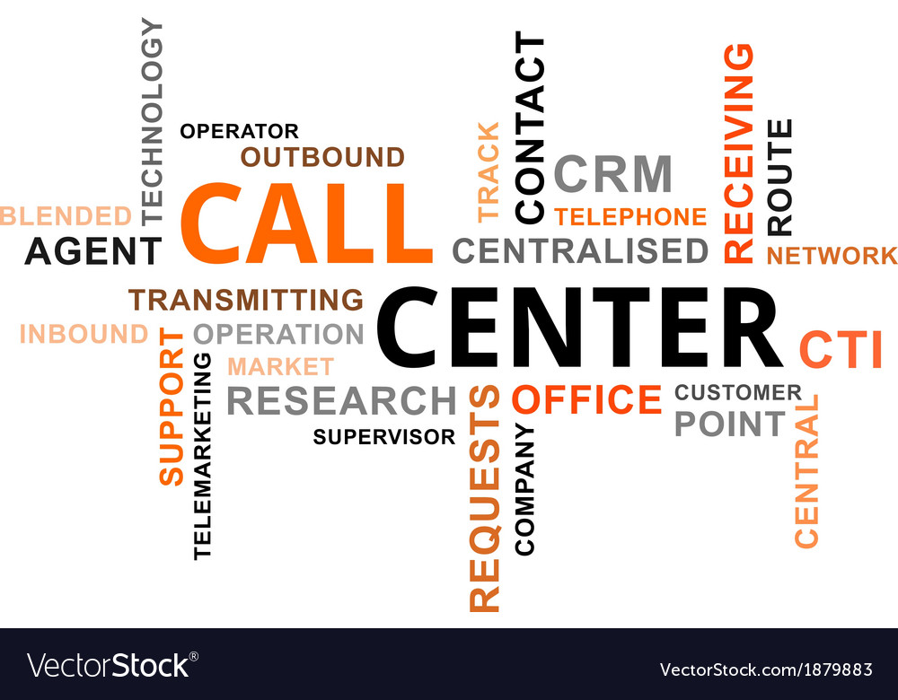 Word cloud call center vector | Price: 1 Credit (USD $1)