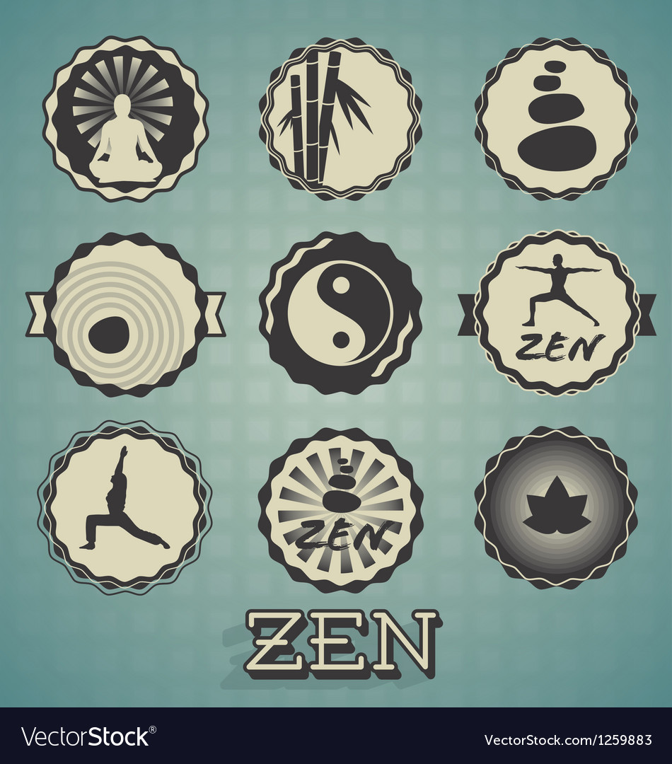 Zen labels vector | Price: 1 Credit (USD $1)