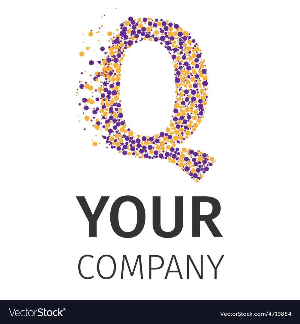 Alphabet particles logotype letter-q vector | Price: 1 Credit (USD $1)
