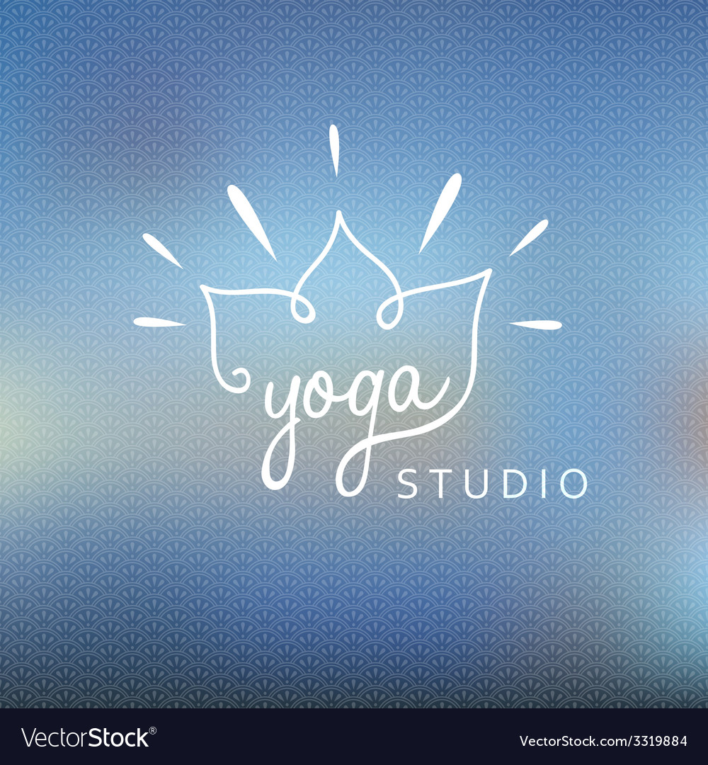 Blured background with yoga logo vector | Price: 1 Credit (USD $1)