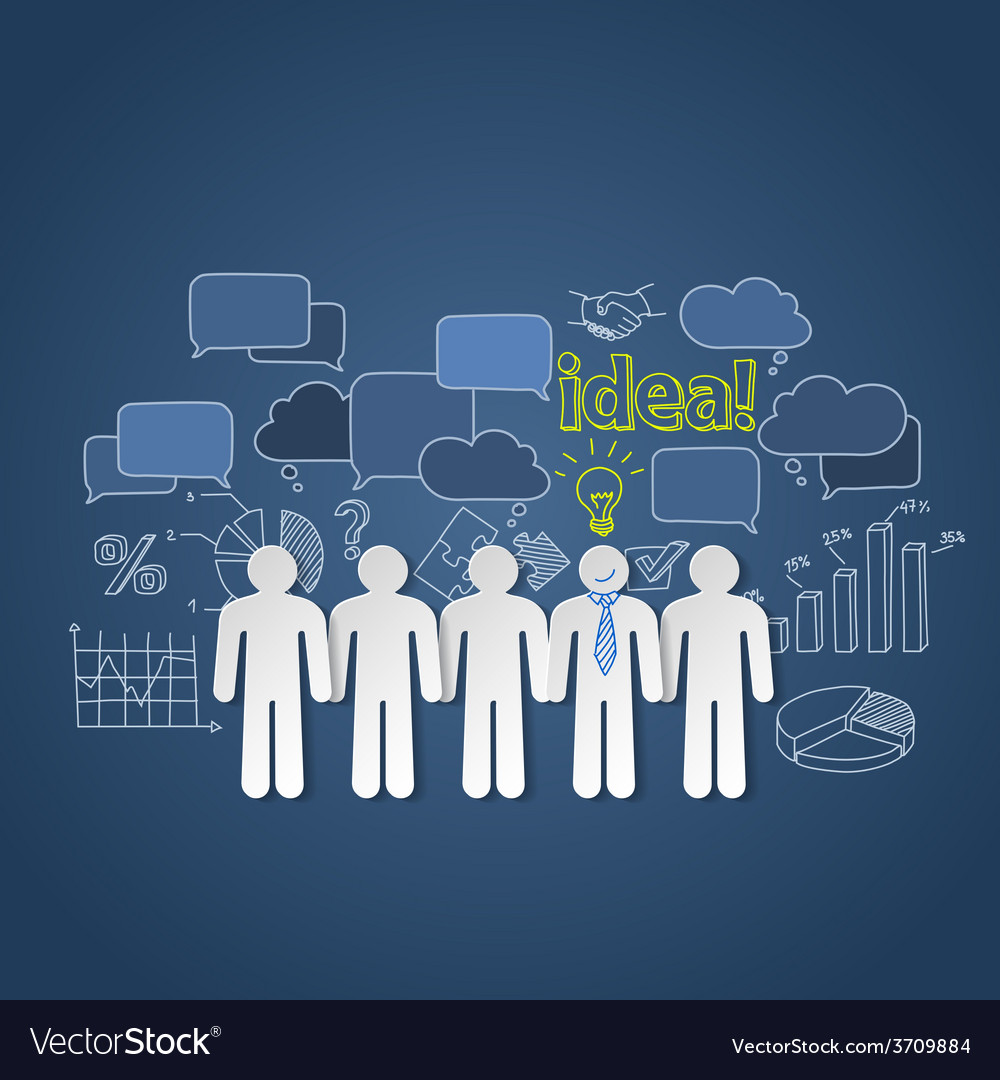 Business people discussion group teamwork idea vector | Price: 1 Credit (USD $1)