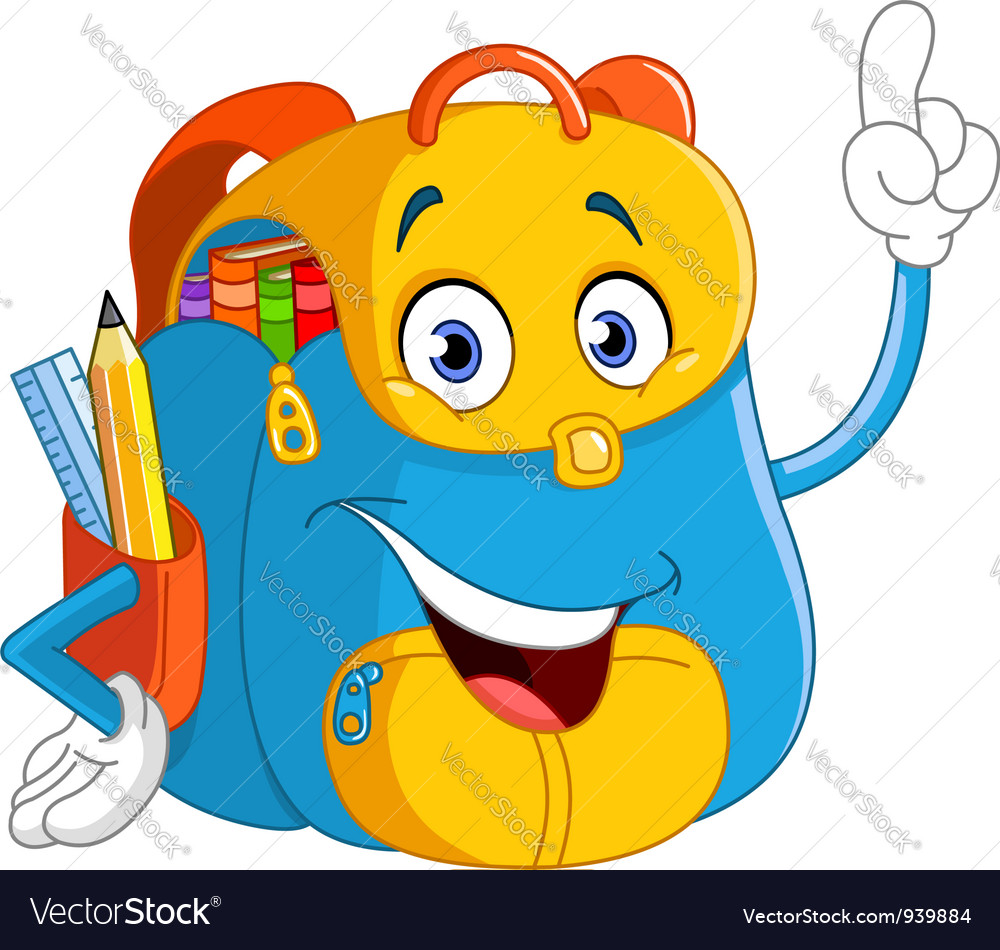 Cartoon backpack vector | Price: 1 Credit (USD $1)