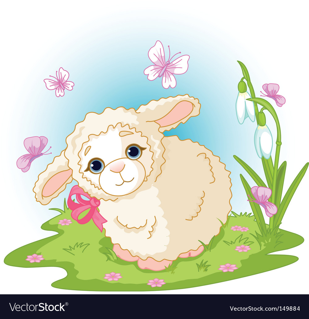 Easter lamb vector | Price: 1 Credit (USD $1)