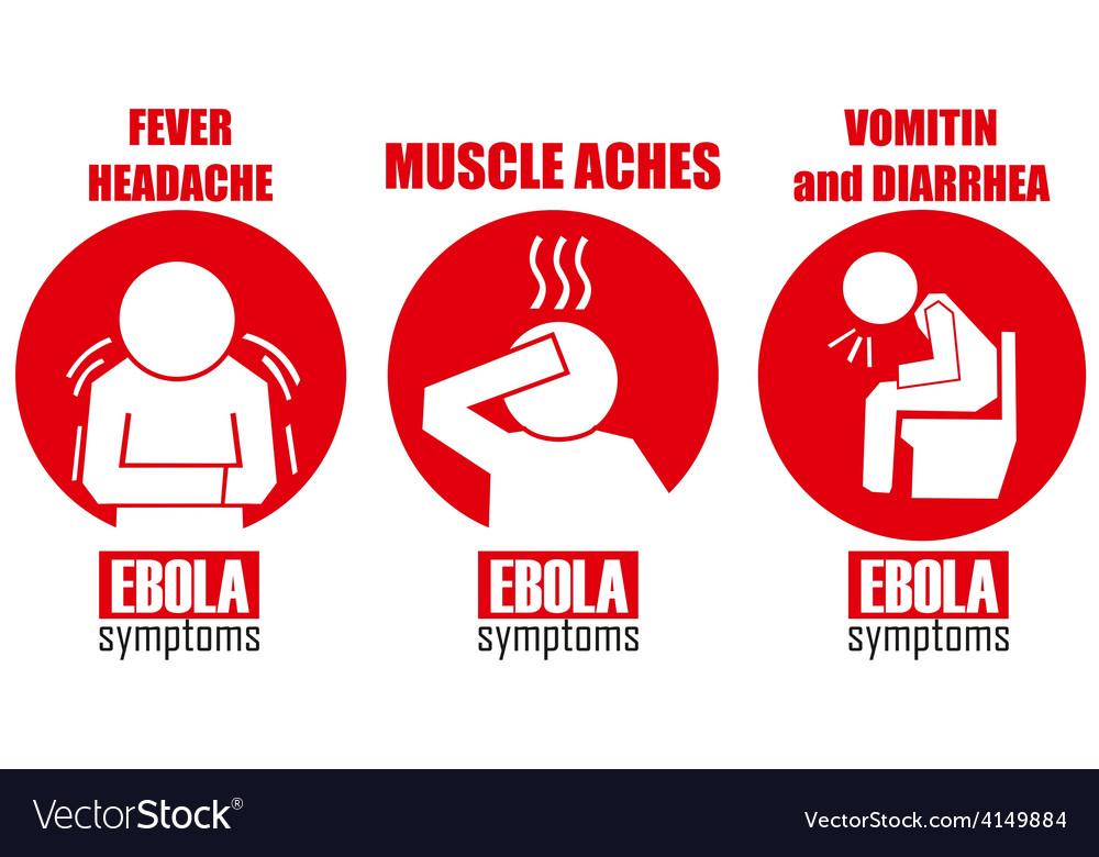 Ebola symptoms vector | Price: 1 Credit (USD $1)