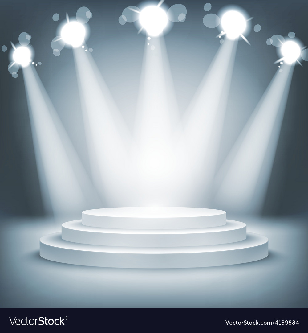Illuminated stage podium award ceremony vector | Price: 1 Credit (USD $1)