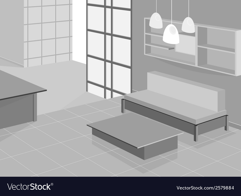 Living room design vector | Price: 1 Credit (USD $1)