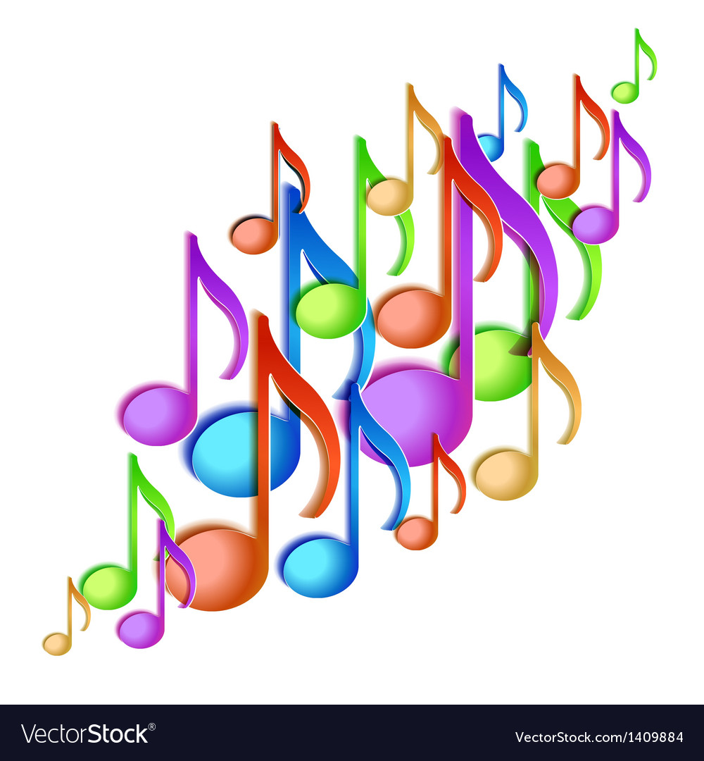 Music note background design vector | Price: 1 Credit (USD $1)