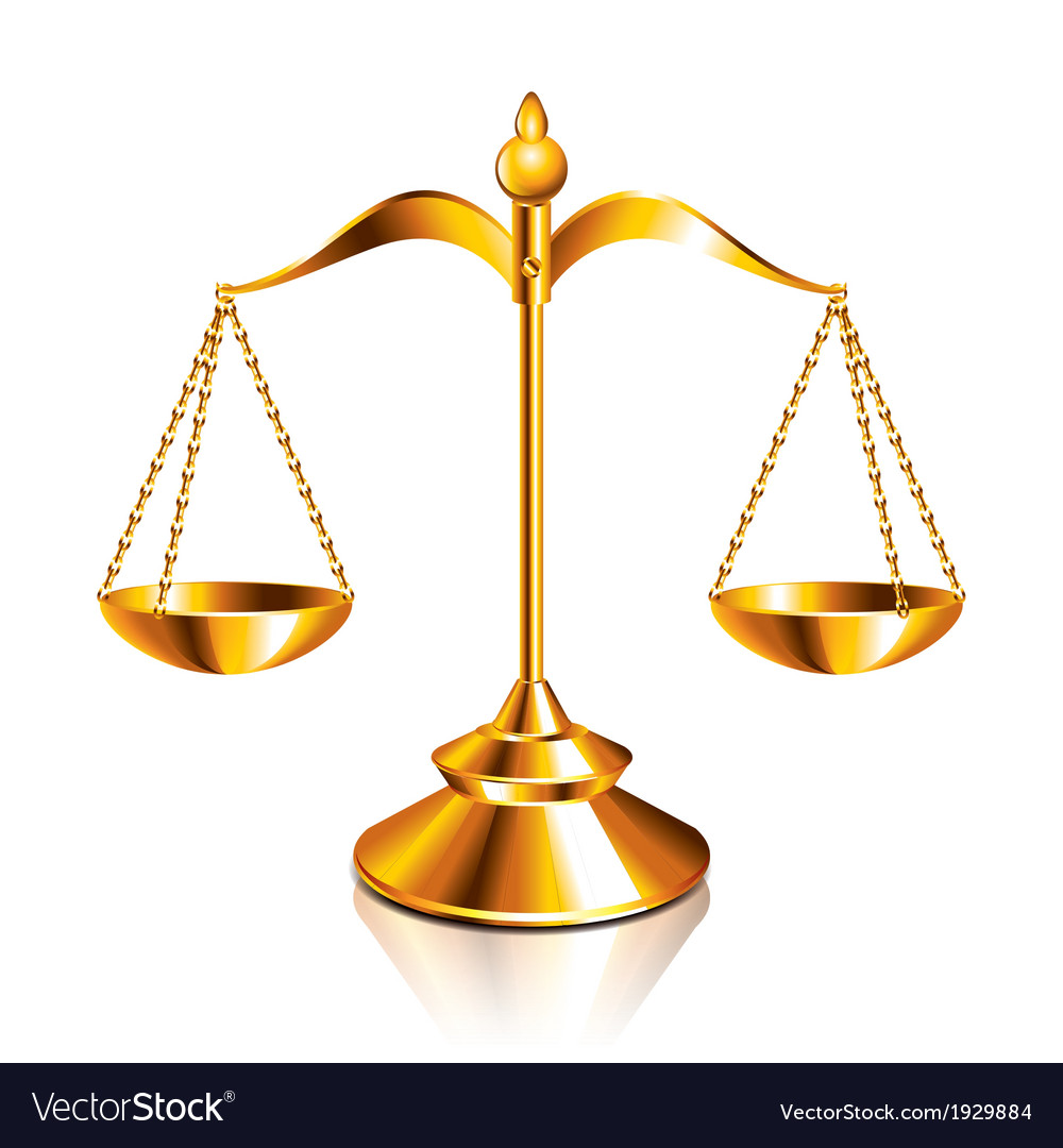 Object scale justice vector | Price: 1 Credit (USD $1)