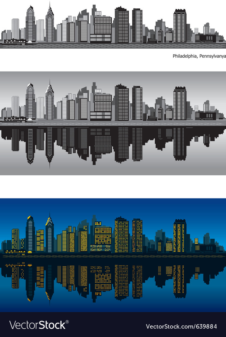 Philadelphia skyline vector | Price: 3 Credit (USD $3)