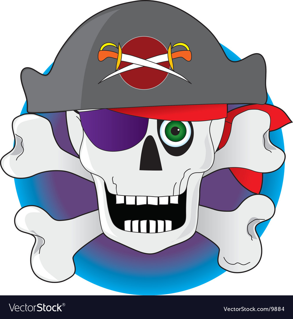 Pirate skull vector | Price: 3 Credit (USD $3)