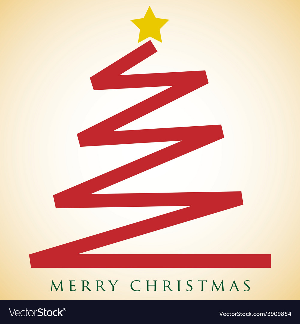 Scribble christmas tree card in format vector | Price: 1 Credit (USD $1)