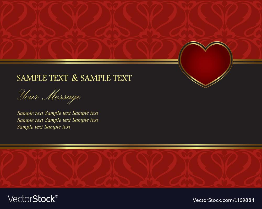 Valentine invitation card vector   Price: 1 Credit (USD $1)