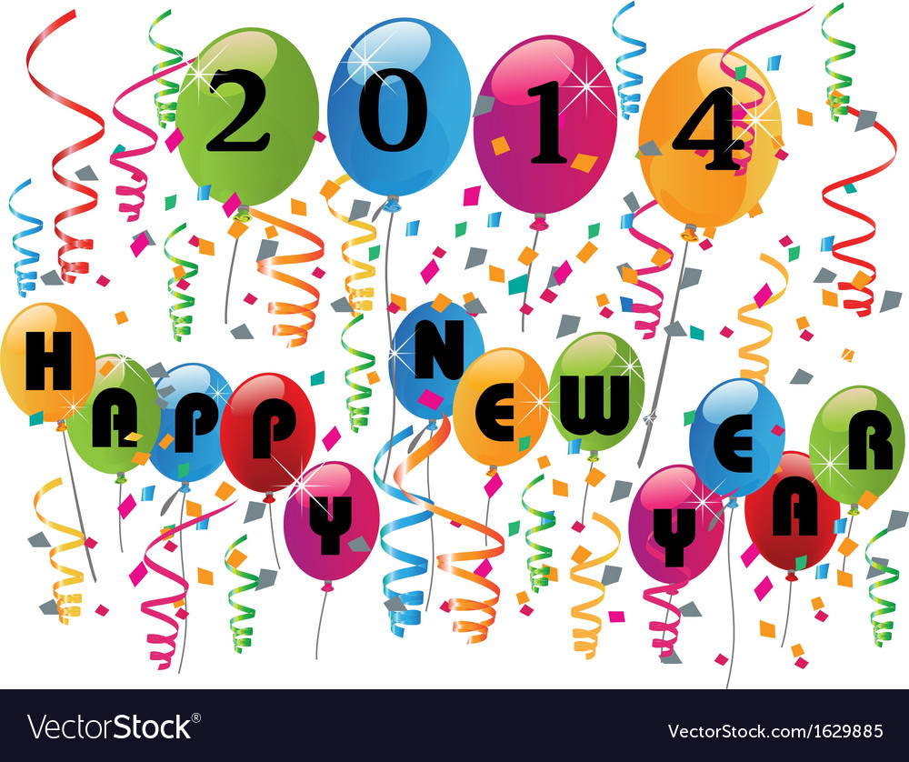 2014 happy new year vector | Price: 1 Credit (USD $1)