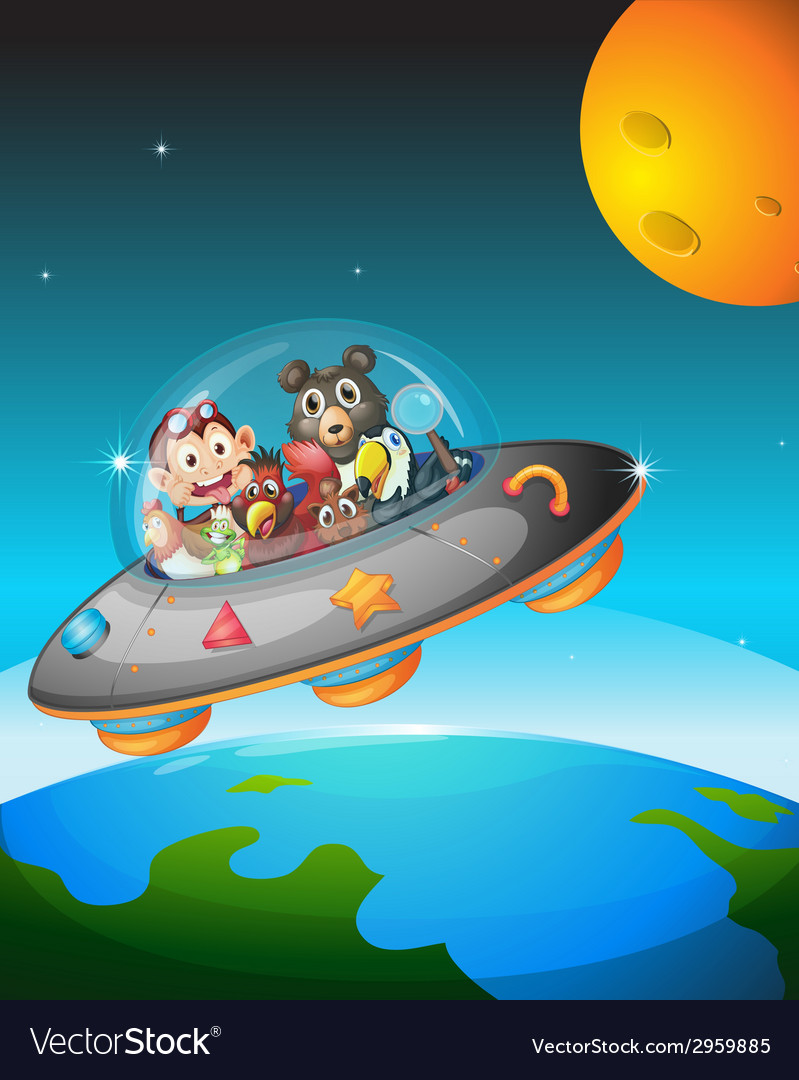 Animals and space vector | Price: 1 Credit (USD $1)