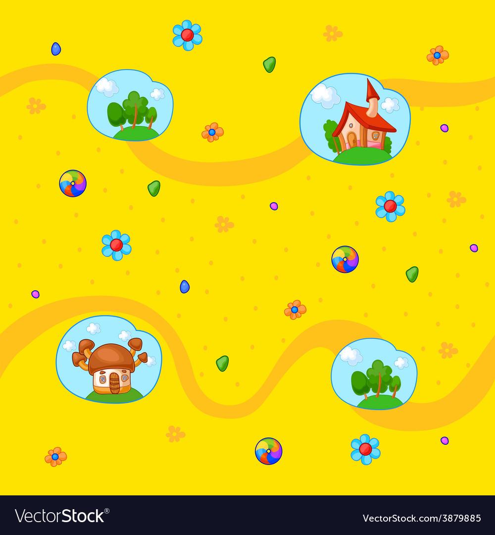 Childish background vector   Price: 1 Credit (USD $1)