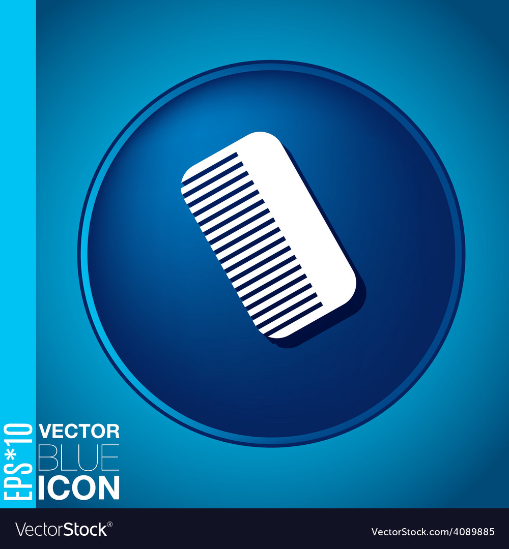 Comb barbershop symbol of hair and beauty salon vector | Price: 1 Credit (USD $1)