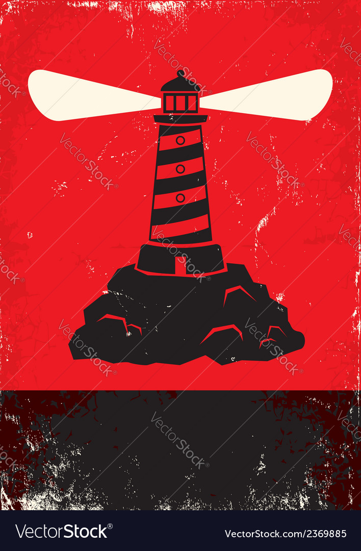 Lighthouse red vector | Price: 1 Credit (USD $1)