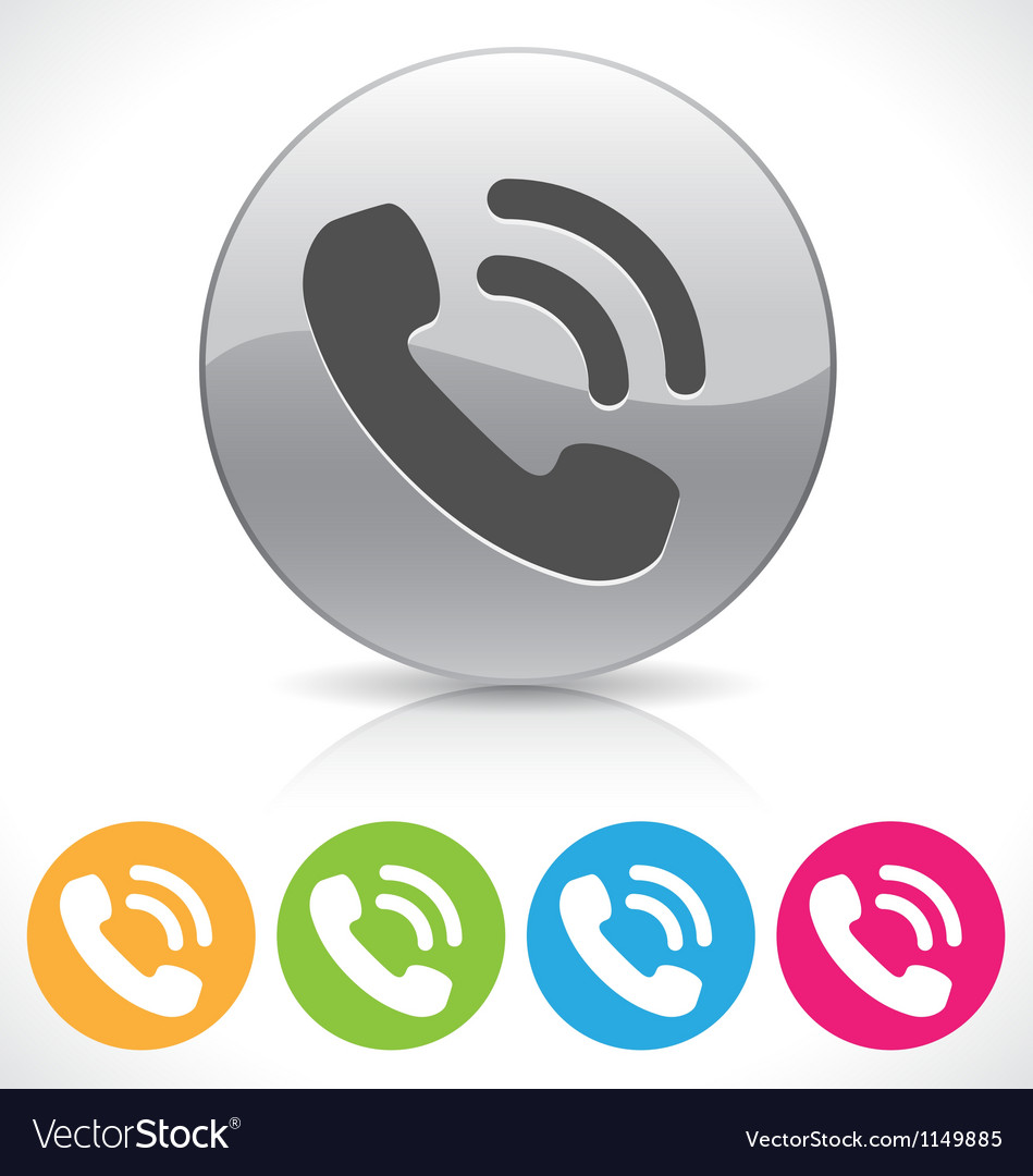 Phone button vector | Price: 1 Credit (USD $1)