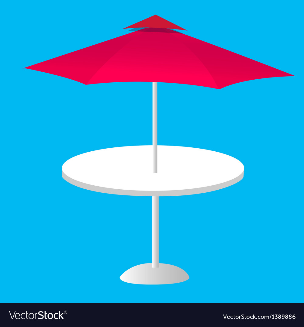 A view of a parasol vector | Price: 1 Credit (USD $1)
