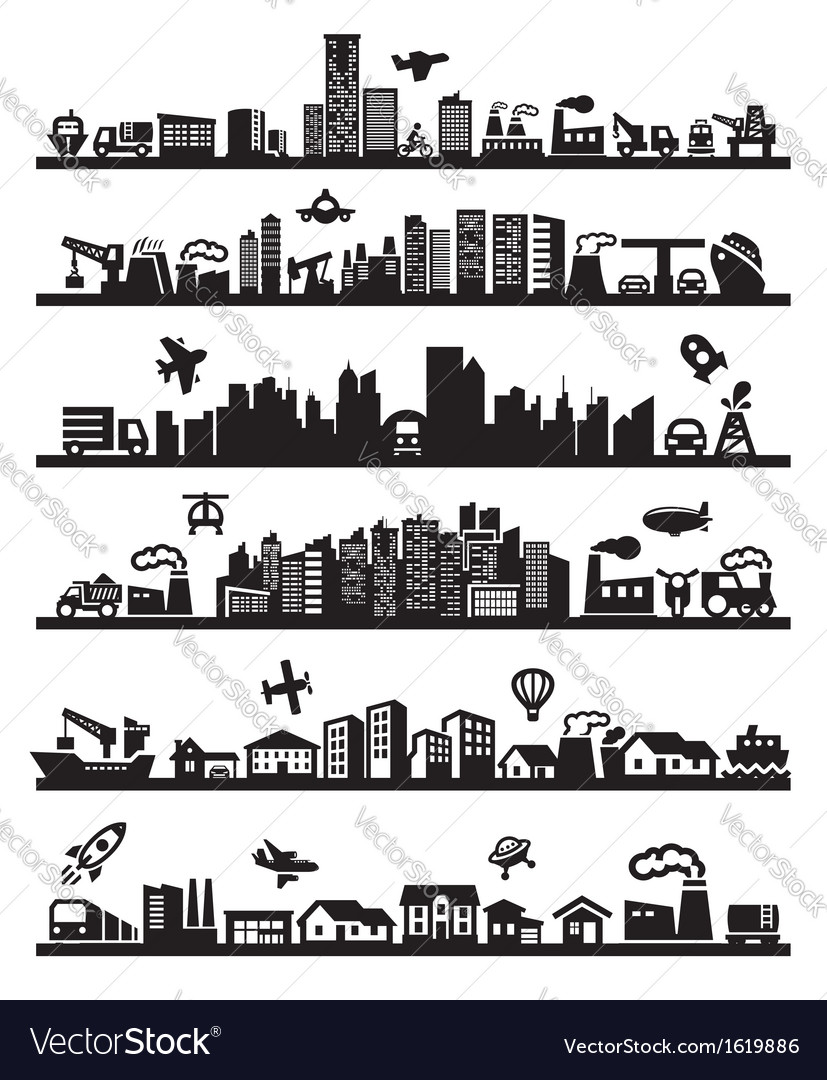 Big city icons vector | Price: 1 Credit (USD $1)