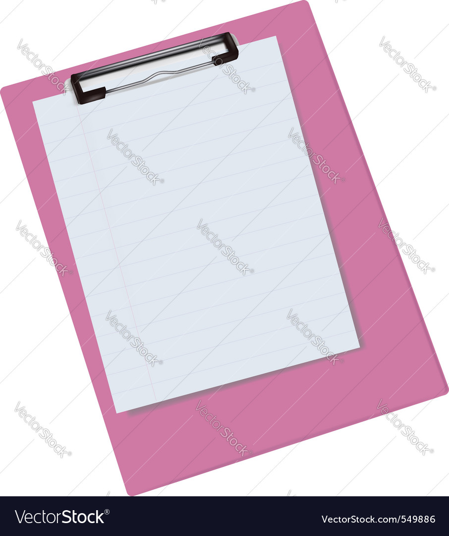 Blank clipboard vector | Price: 1 Credit (USD $1)