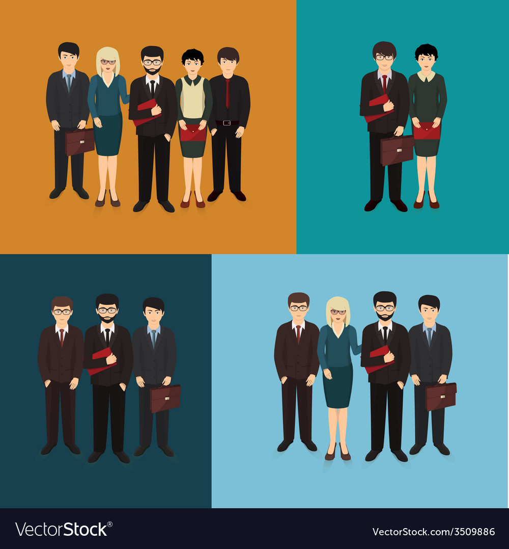 Business man and woman forming team vector | Price: 1 Credit (USD $1)