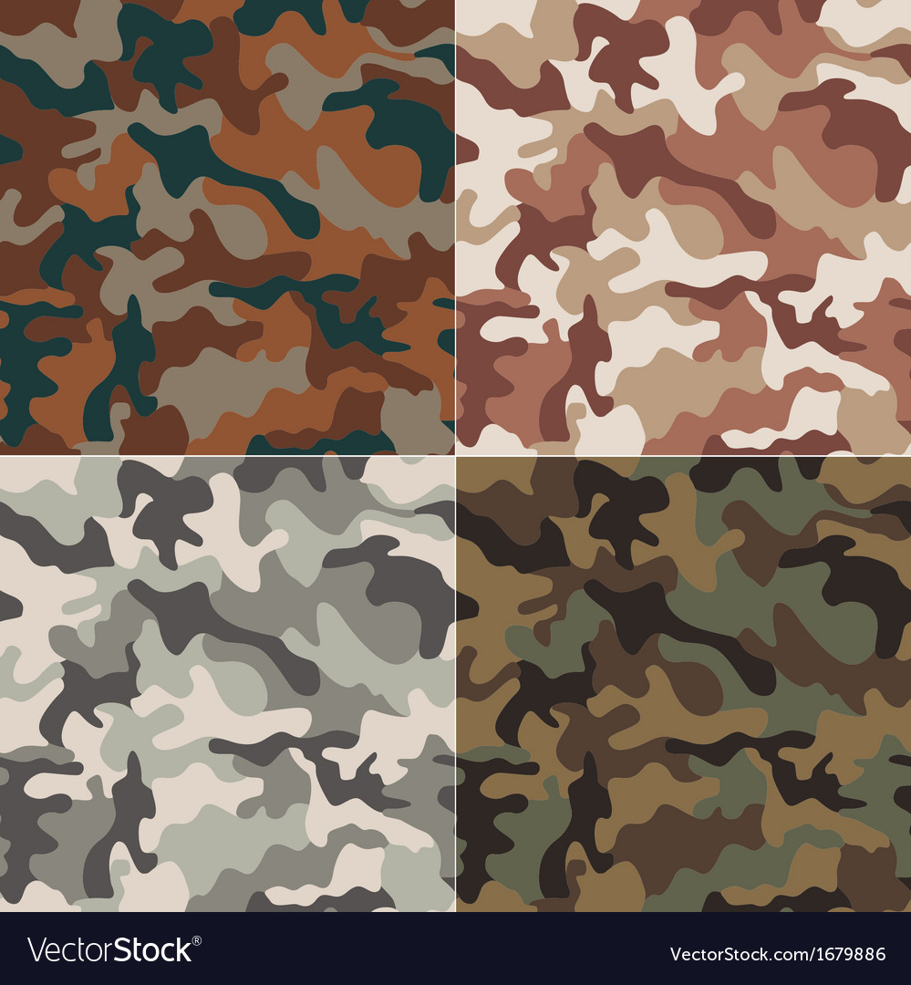 Camouflage seamless pattern vector | Price: 1 Credit (USD $1)