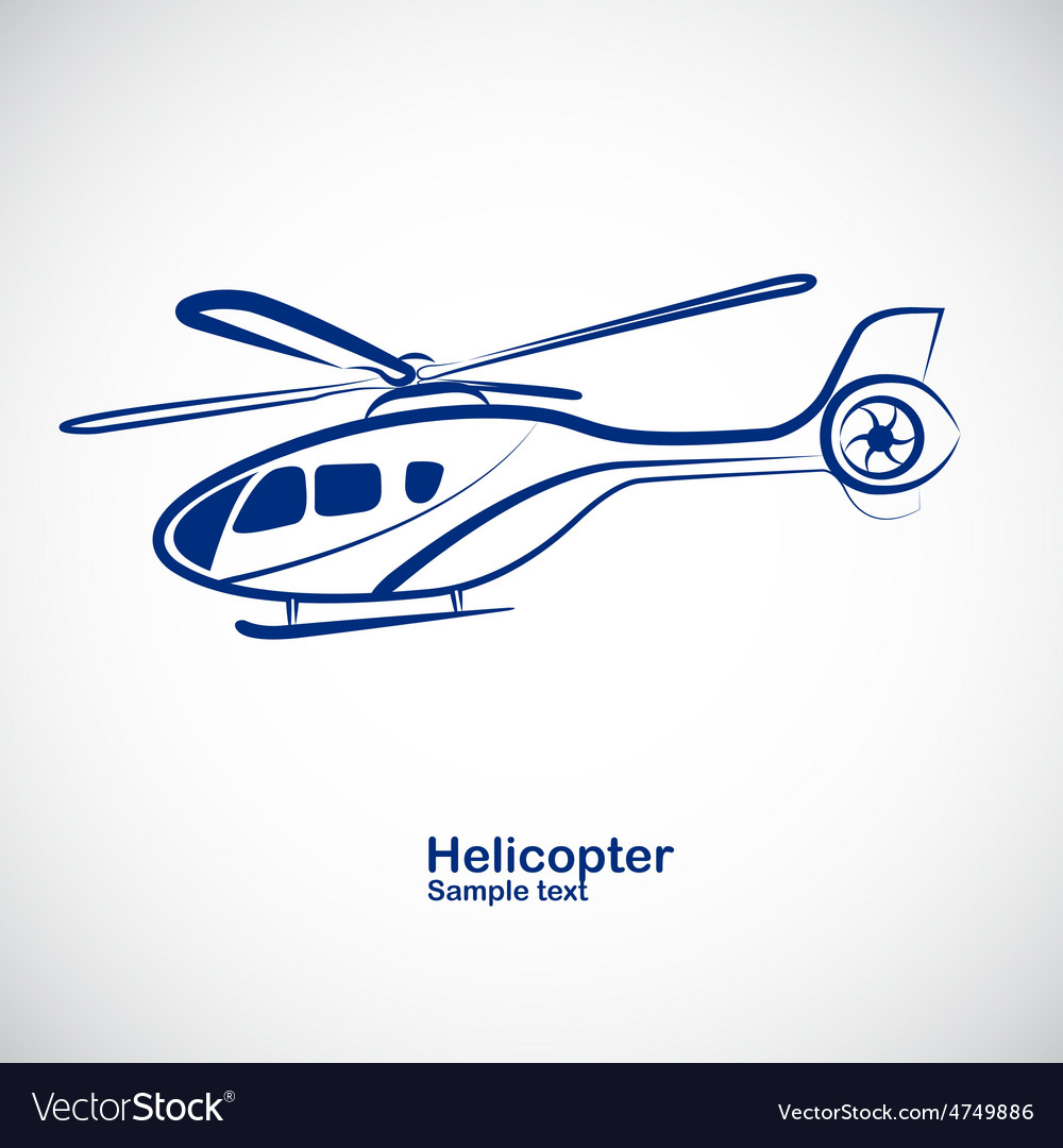 Helicopter 3 vector | Price: 1 Credit (USD $1)
