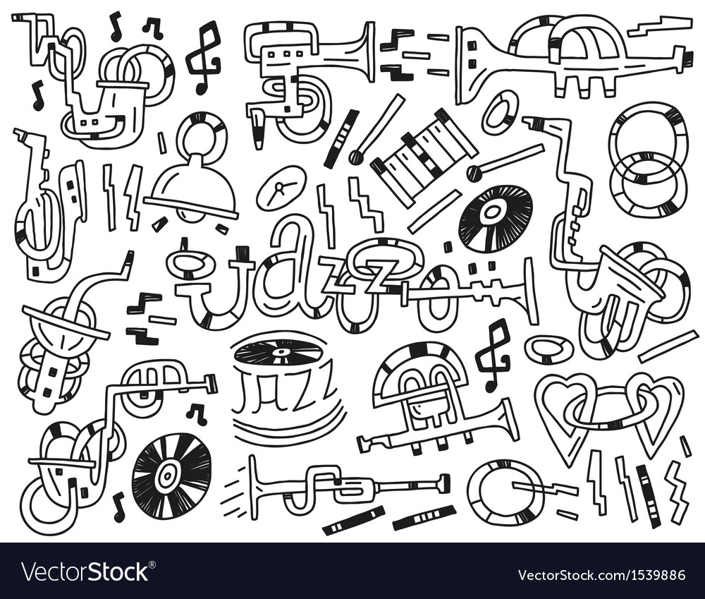 Jazz doodles vector | Price: 1 Credit (USD $1)