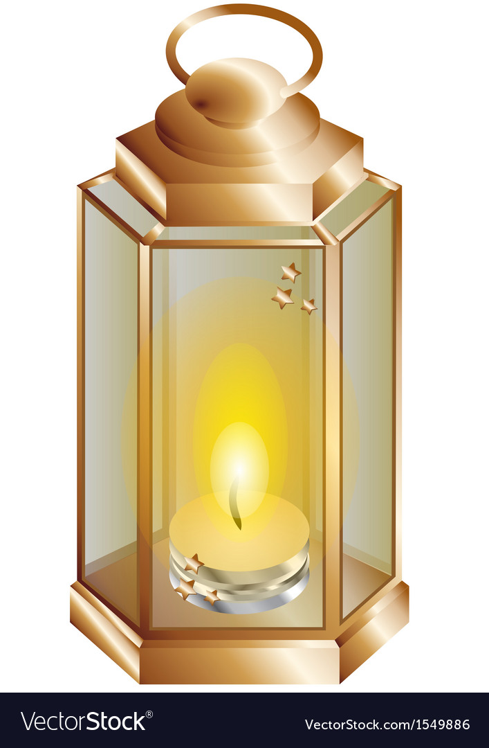 Lantern with a candle vector | Price: 1 Credit (USD $1)