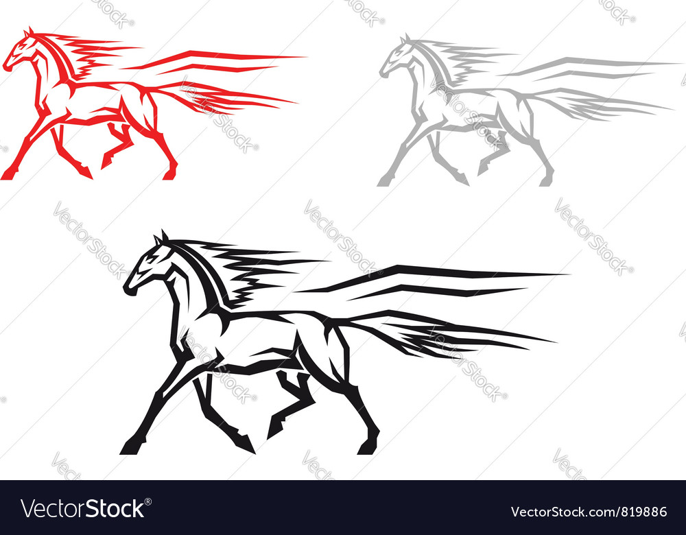 Mustang horse vector | Price: 1 Credit (USD $1)