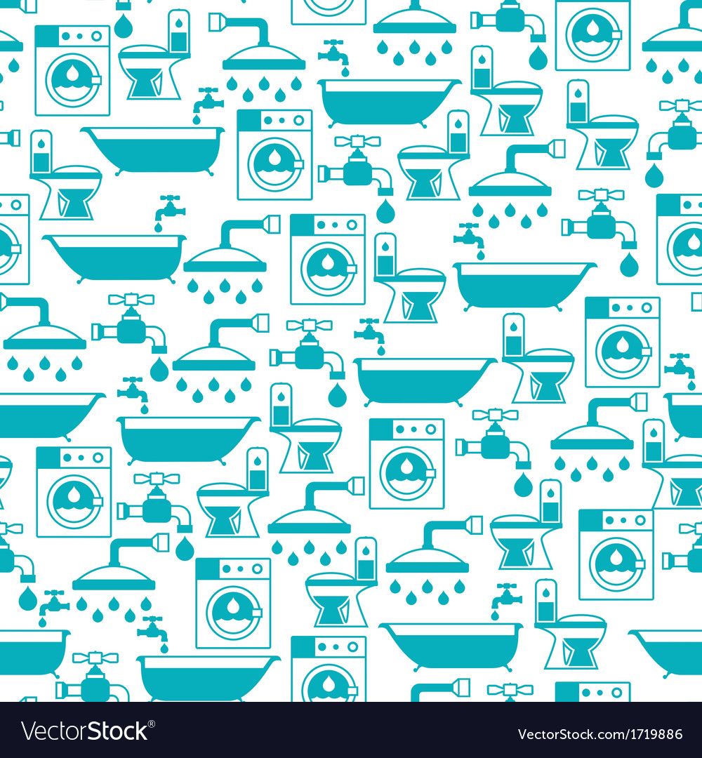 Seamless pattern with plumbing equipment vector | Price: 1 Credit (USD $1)