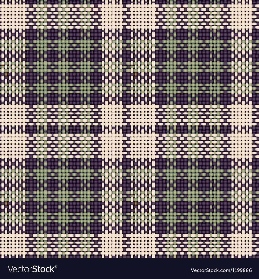 Seamless texture of rough cotton fabric with plaid vector | Price: 1 Credit (USD $1)