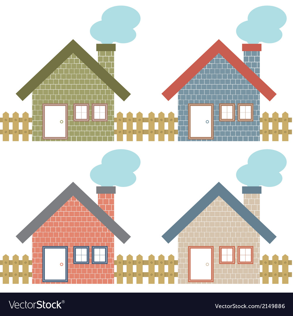Set of country home style vector | Price: 1 Credit (USD $1)