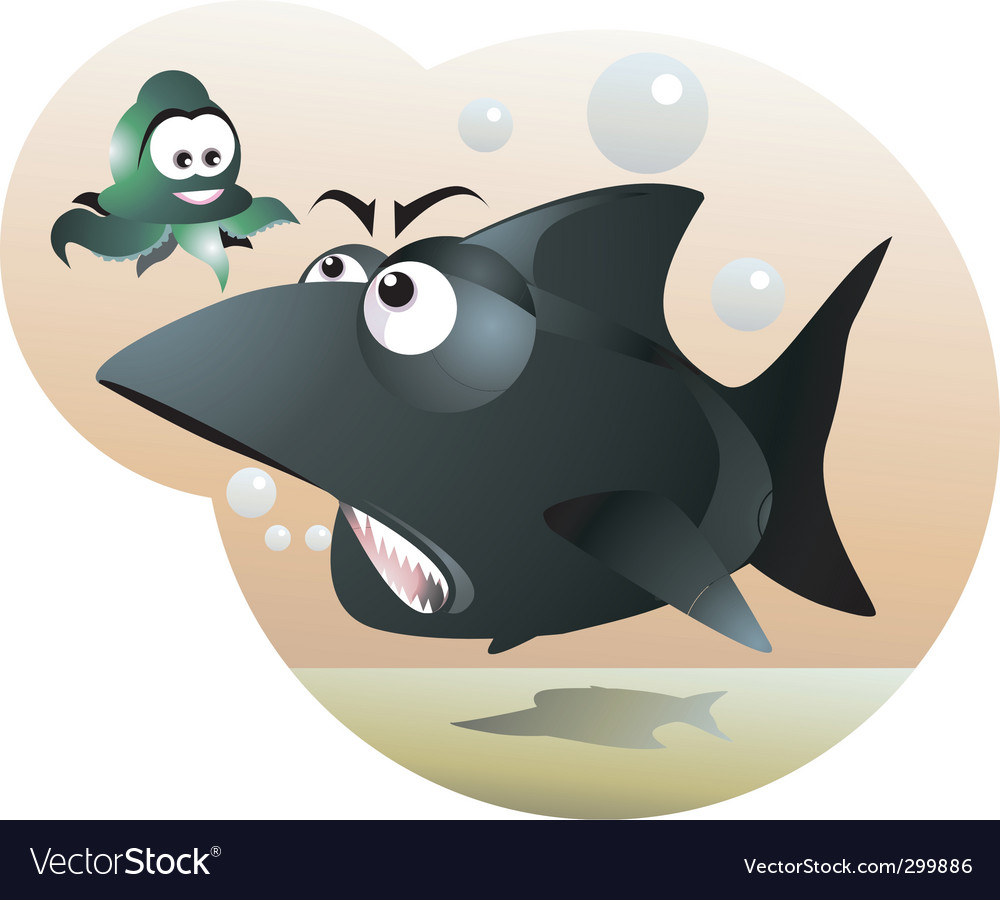 Shark and octopus vector | Price: 1 Credit (USD $1)