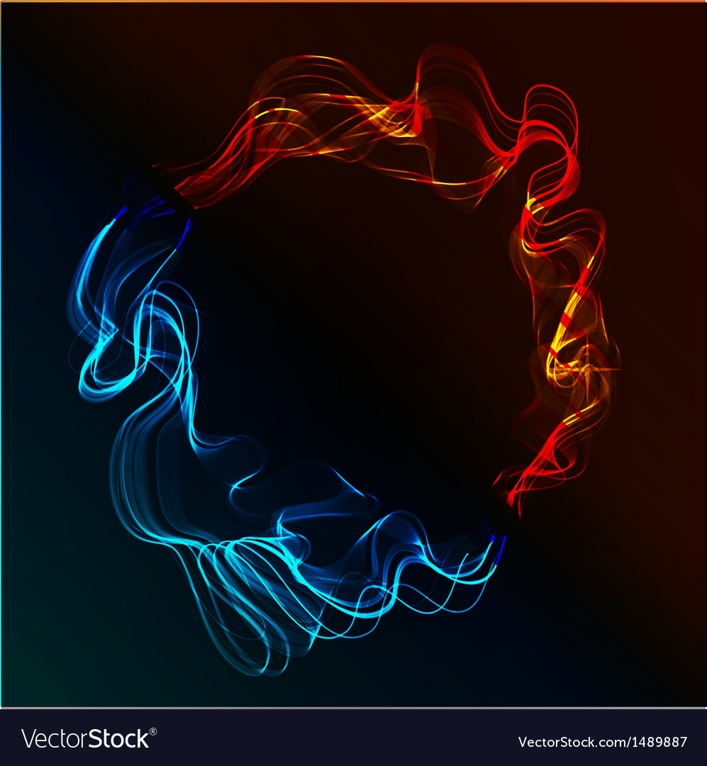 Abstract fire and ice vector | Price: 1 Credit (USD $1)