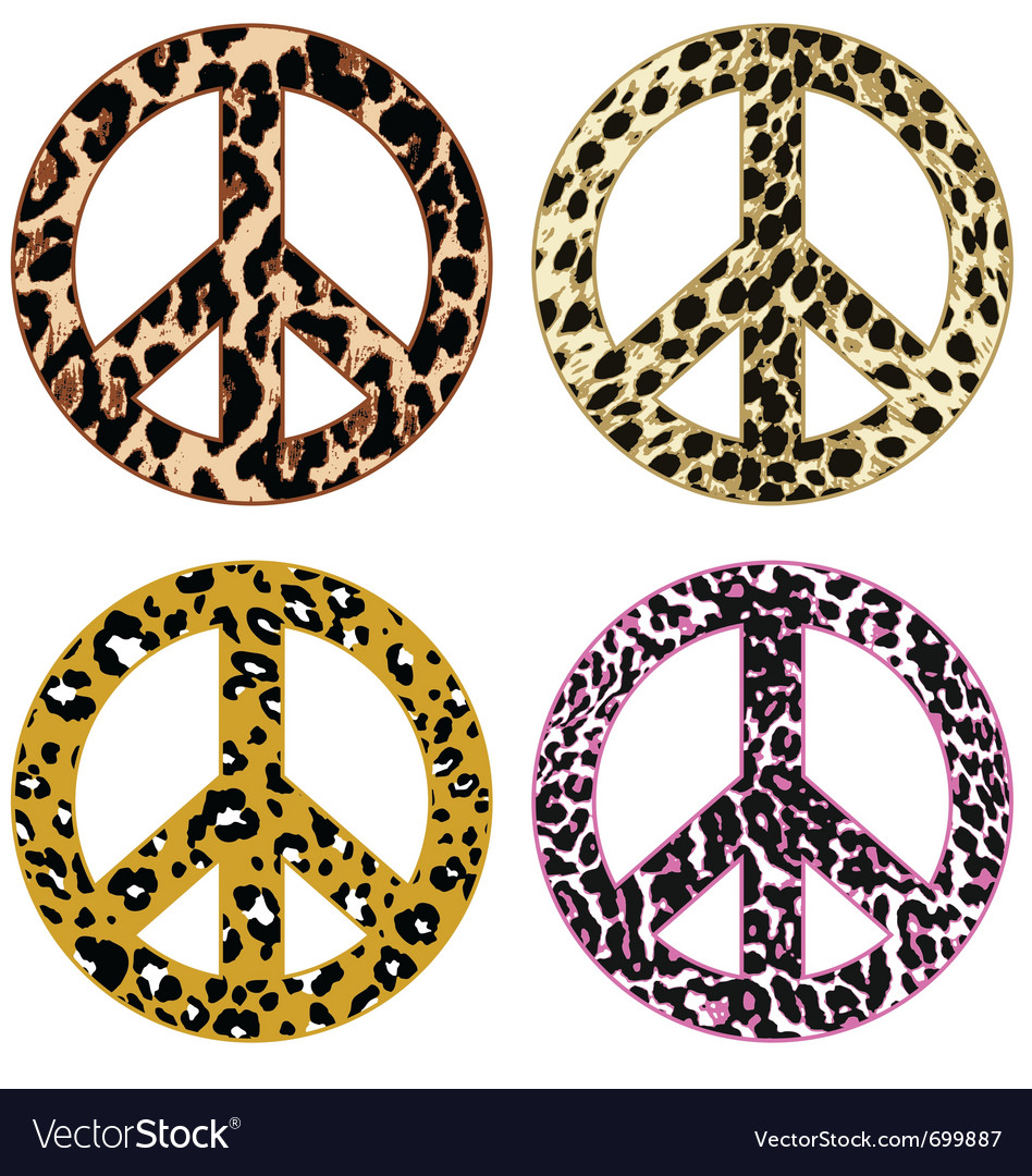 Animal print peace design vector | Price: 1 Credit (USD $1)