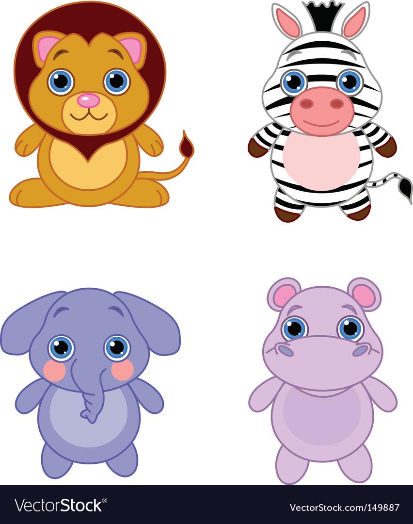 Cartoon african animals vector | Price: 1 Credit (USD $1)