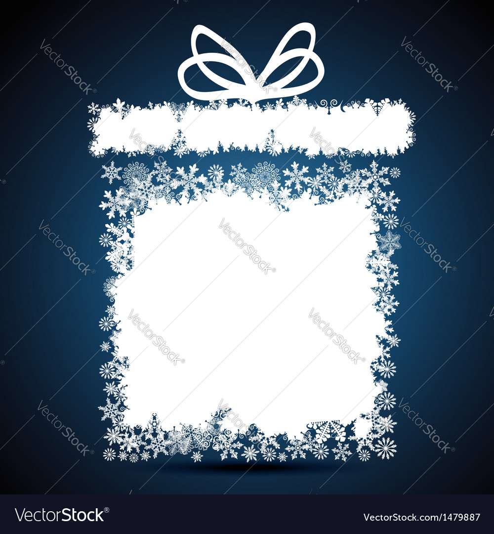 Christmas gift box snowflake design background vector | Price: 1 Credit (USD $1)