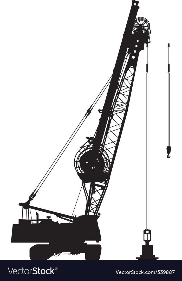 Construction crane vector | Price: 1 Credit (USD $1)