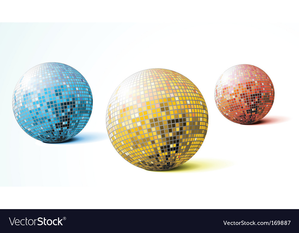 Disco balls vector | Price: 1 Credit (USD $1)