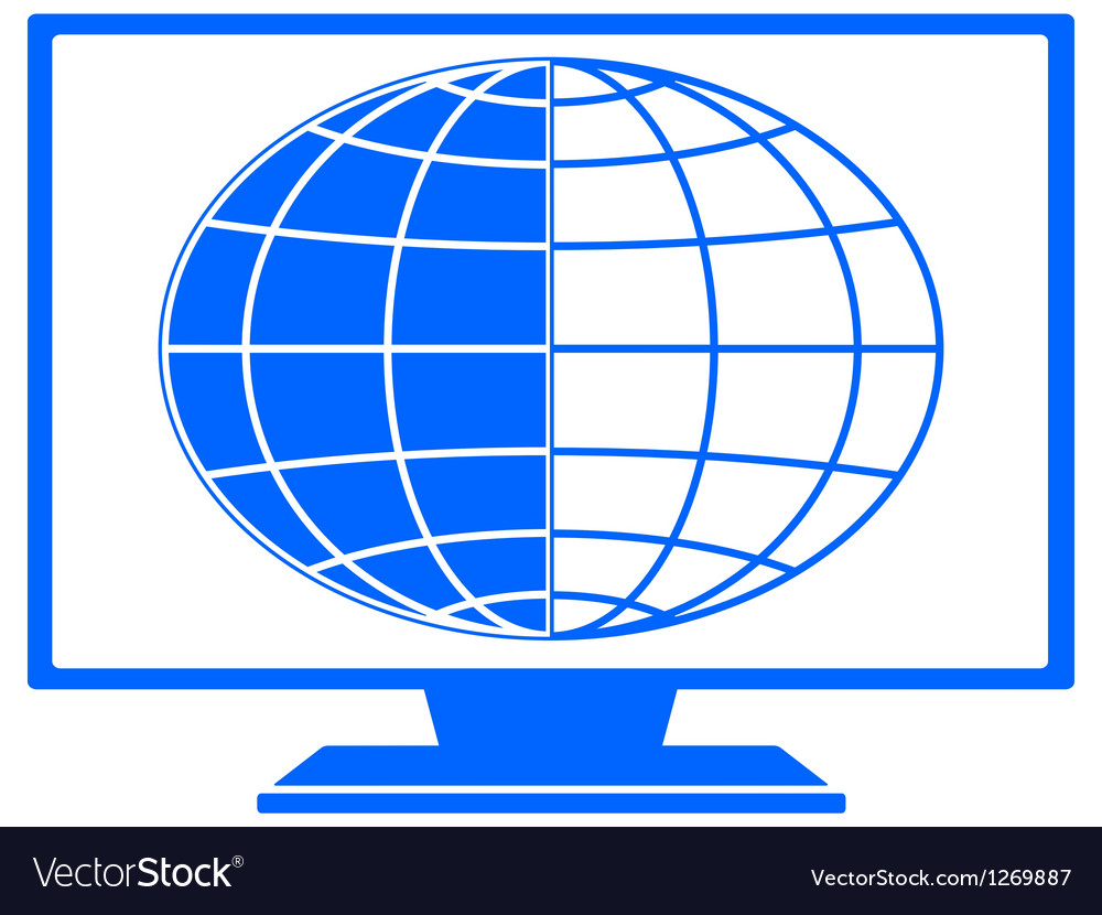 Globe in tv vector | Price: 1 Credit (USD $1)