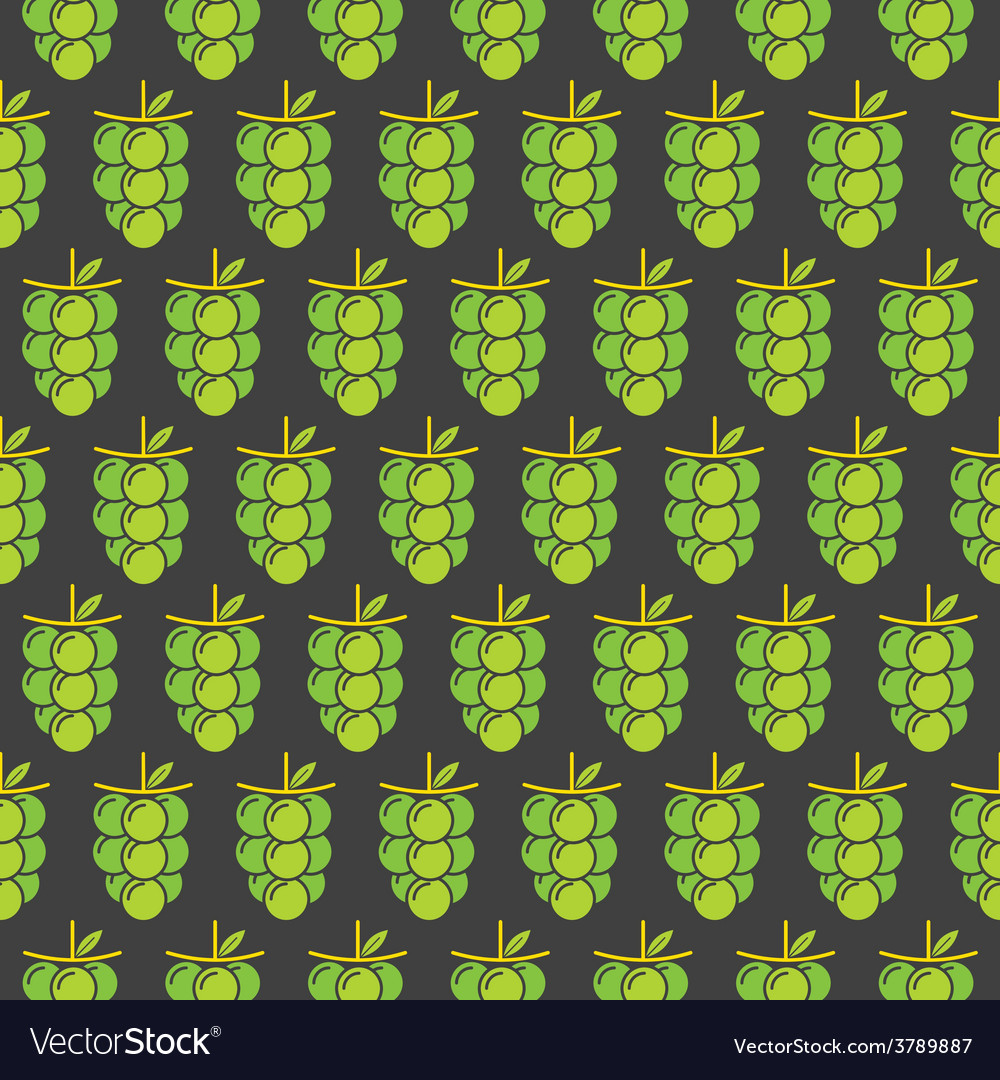 Green grapes bunch pattern design for wrapping gif vector | Price: 1 Credit (USD $1)