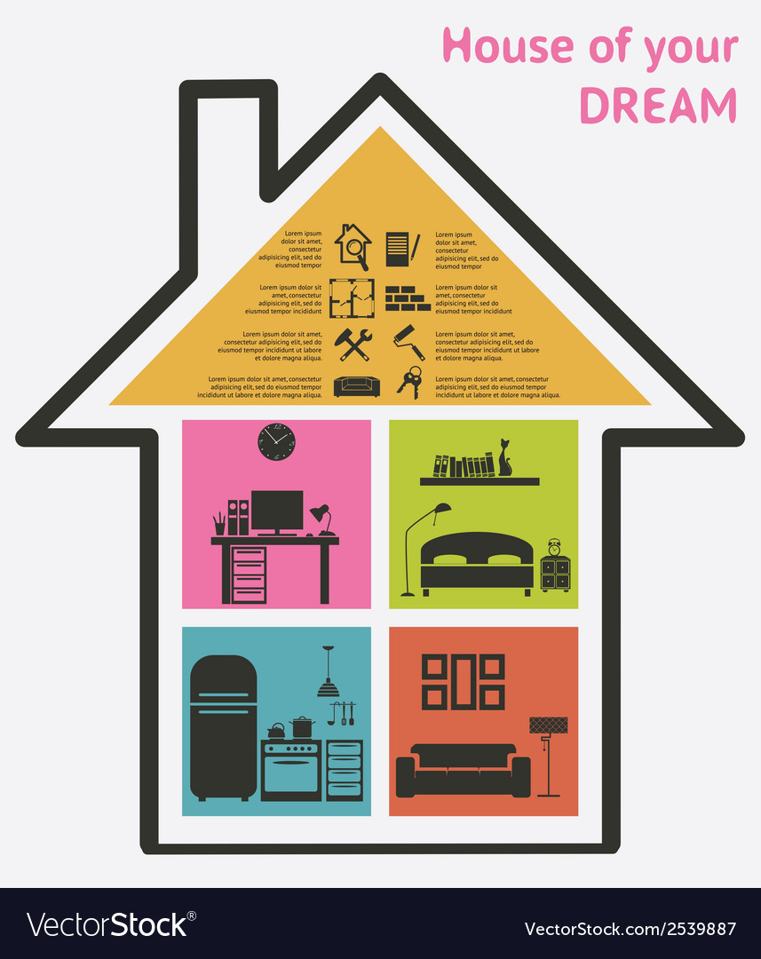 House and real estate icons vector | Price: 1 Credit (USD $1)