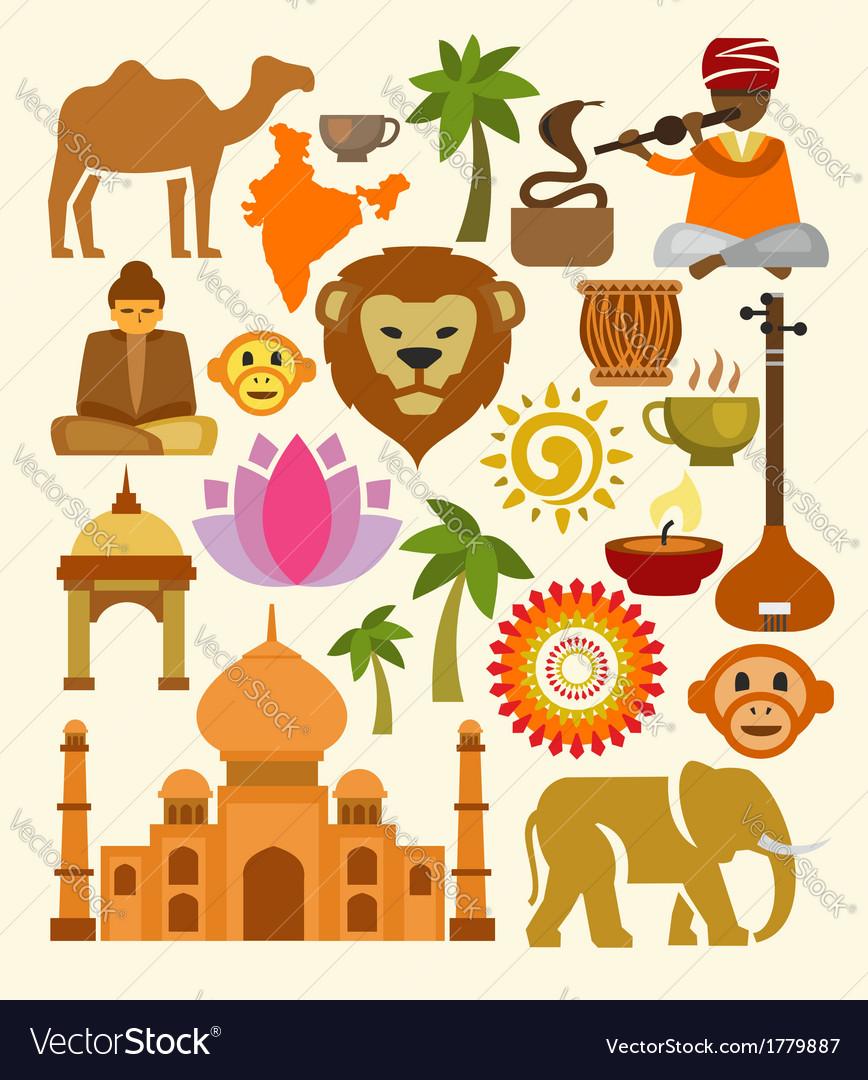 India icon set vector   Price: 1 Credit (USD $1)