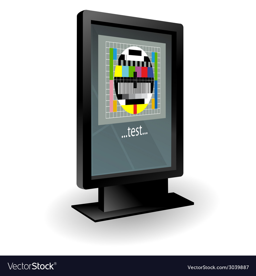 Lcd tv with test part two vector | Price: 1 Credit (USD $1)
