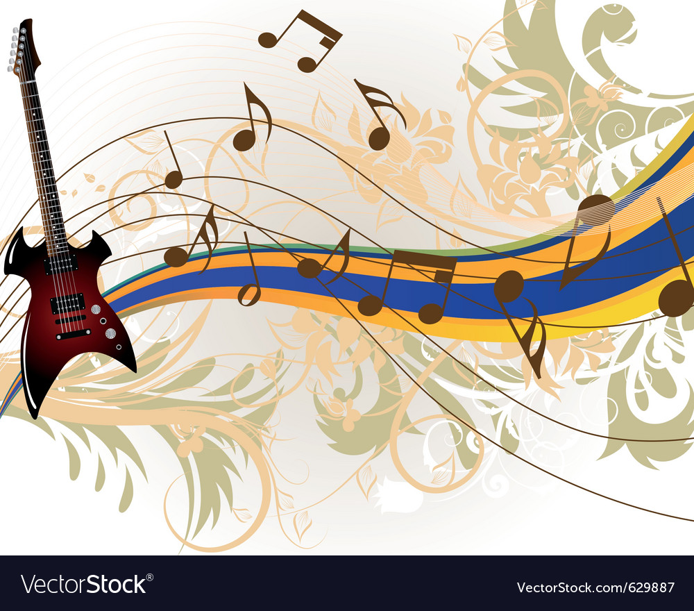 Musical grunge background vector | Price: 1 Credit (USD $1)