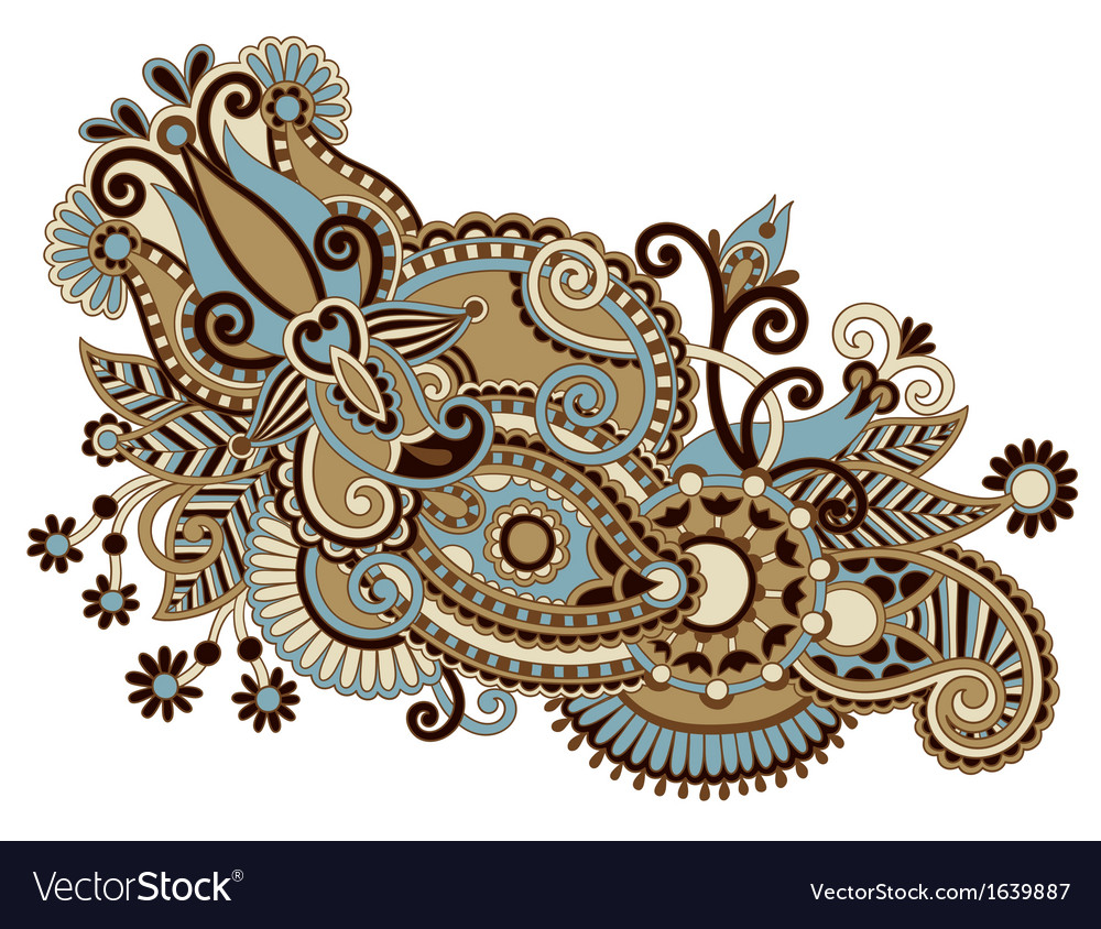 Ornate flower design vector | Price: 1 Credit (USD $1)