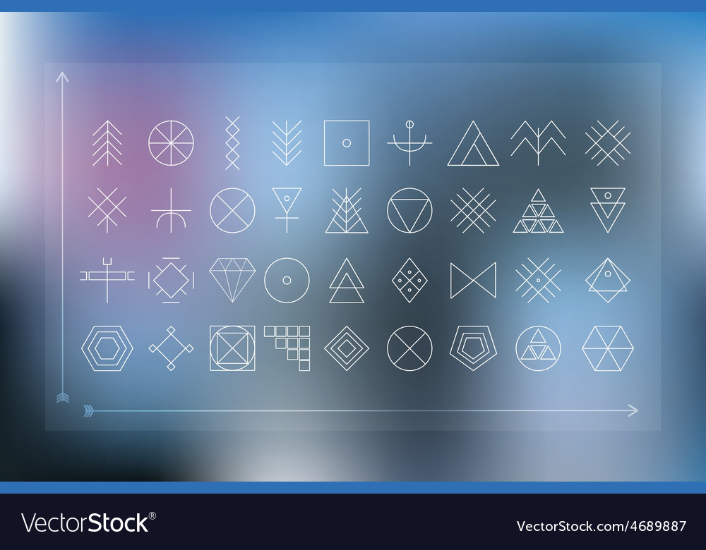 Set of geometric hipster shapes vector | Price: 1 Credit (USD $1)