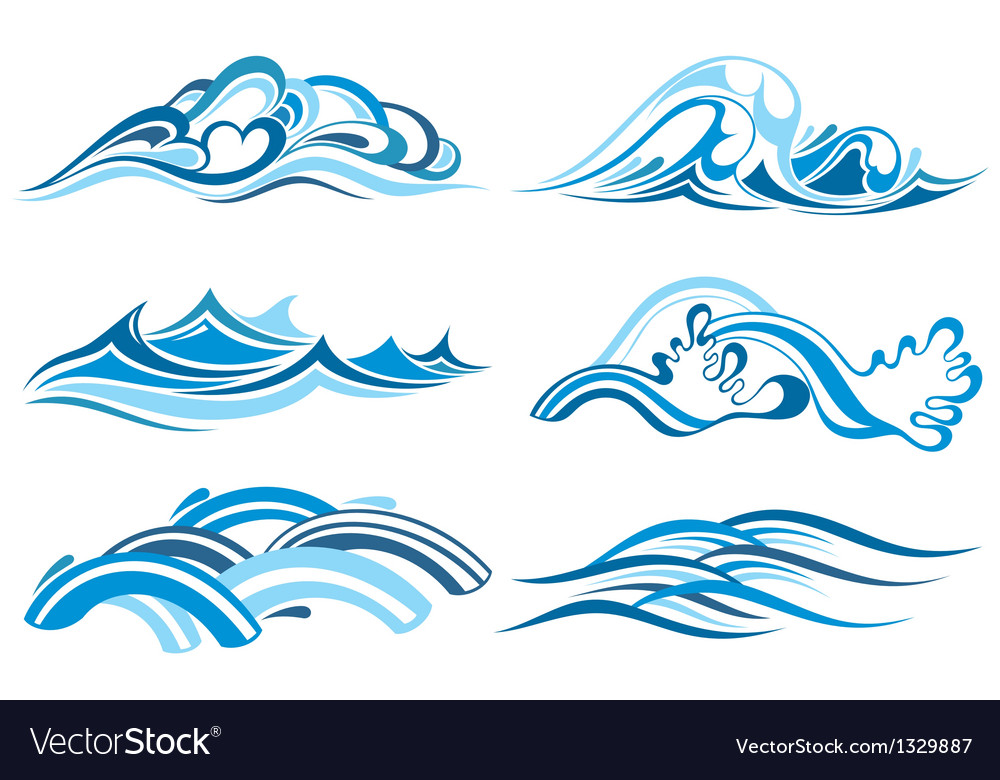 Wave collection vector | Price: 1 Credit (USD $1)